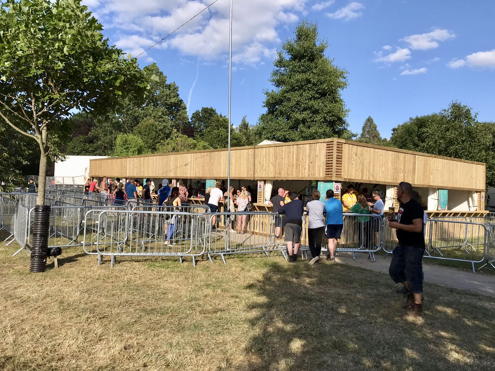 Bar facade at IOW Festival 2018
