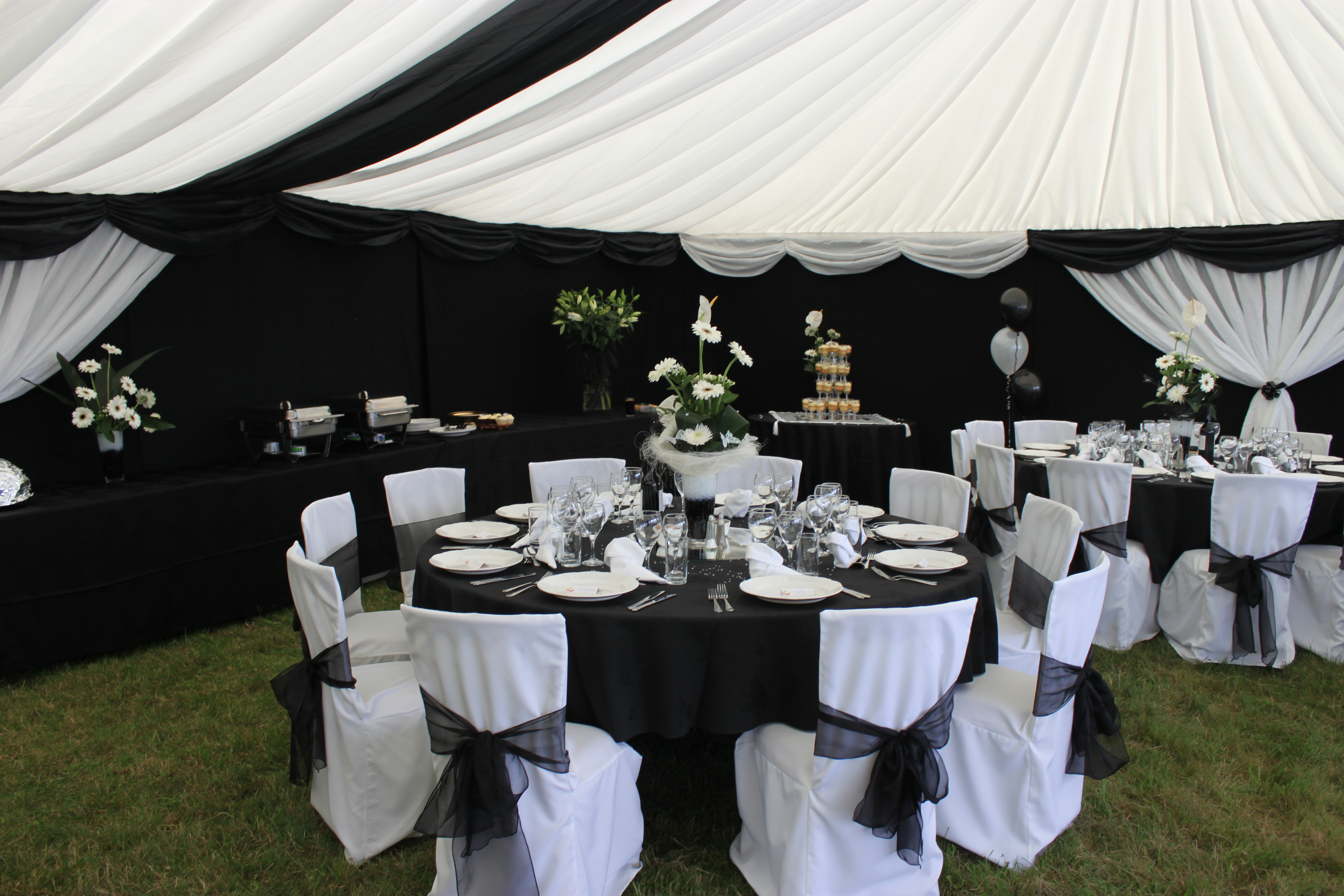 black and white marquee interior